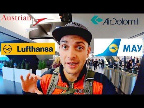 ОБЗОР И СРАВНЕНИЕ АВИАЛИНИЙ! LuftHansa, МАУ, Austrian Airlines, Air Dolomiti