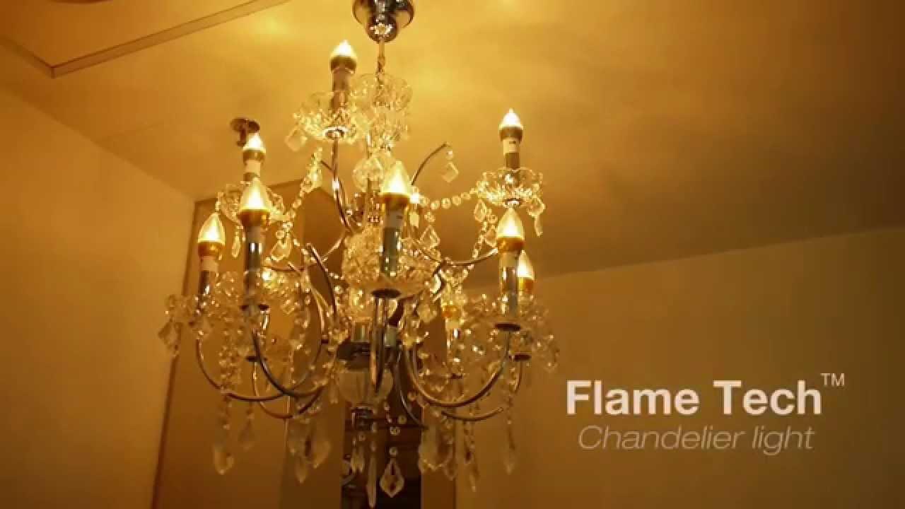 Flame Tech™ candelabra base led - YouTube