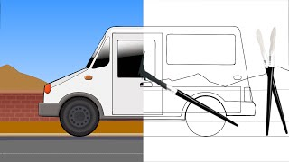 Coloring Book | Color Book | Learn Colors | Mail Truck | colouring page