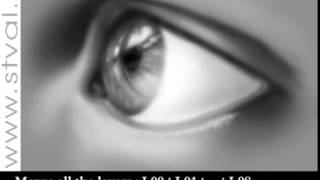 Photoshop Tutorial - прекрасный урок по рисованию человеческого глаза. Реалистично!