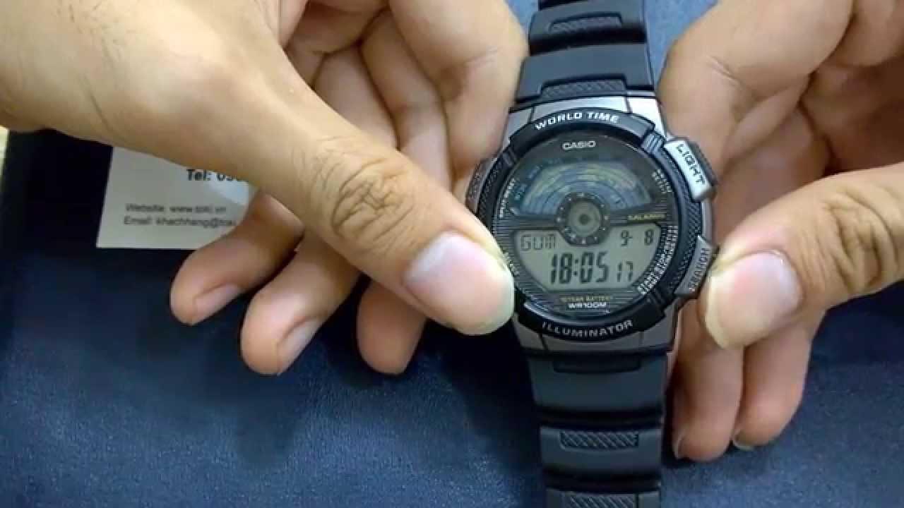 Kết quả hình ảnh cho cách chỉnh đồng hồ điện tử sport