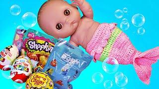 Куклы Пупсики Беби Элайв и Русалка Открывают сюрпризы и игрушки Дарят подарки ЗырикиТВ