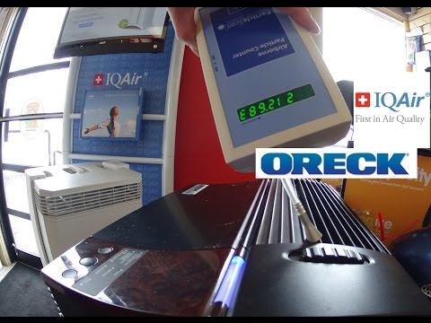 Oreck Truman Cell air Purifier vs HEPA  Air purifier (IQ Air)
