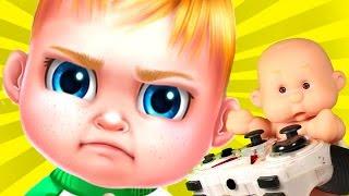 Крошка BABY Пупс Антоша и ПАПА играют в Игра как Видео для детей
