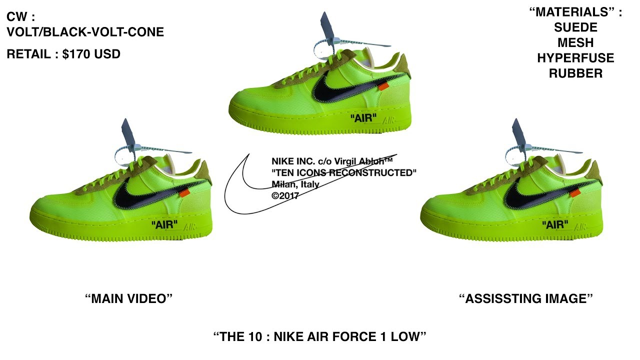 Nike X Off White Volt Air Force 1 Review Youtube