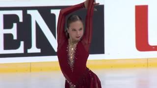 Ксения Синицына Россия | ISU Гран При (юниоры) 2018 Каунас | Короткая программа (девушки)