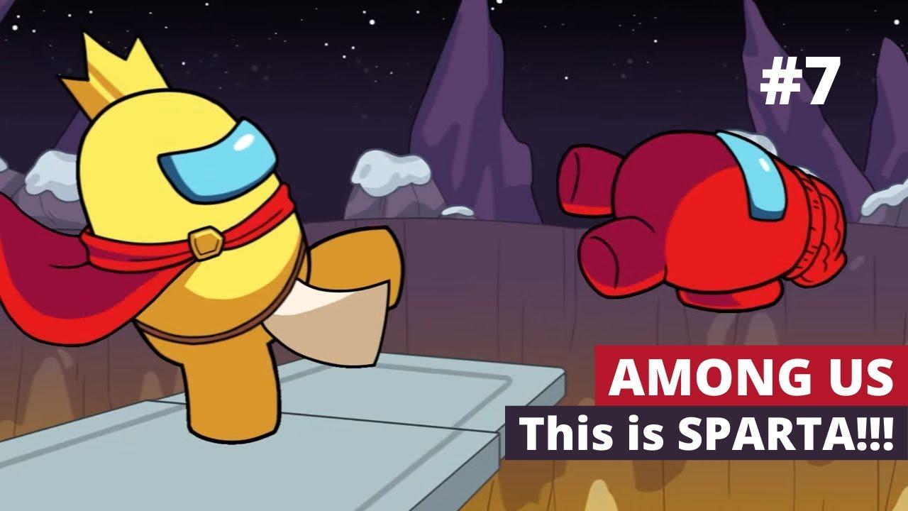 This Is Sparta Among Us Logic 7 Cartoon Animation Youtube