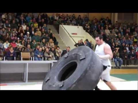 WNSF Laszlo Classic 2012, Hungary Event: 550kg Tyre Flip.