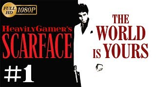 Scarface The World Is Yours Gameplay Walkthrough (PC) Part 1: Mansion Shootout/I Lost Everything!