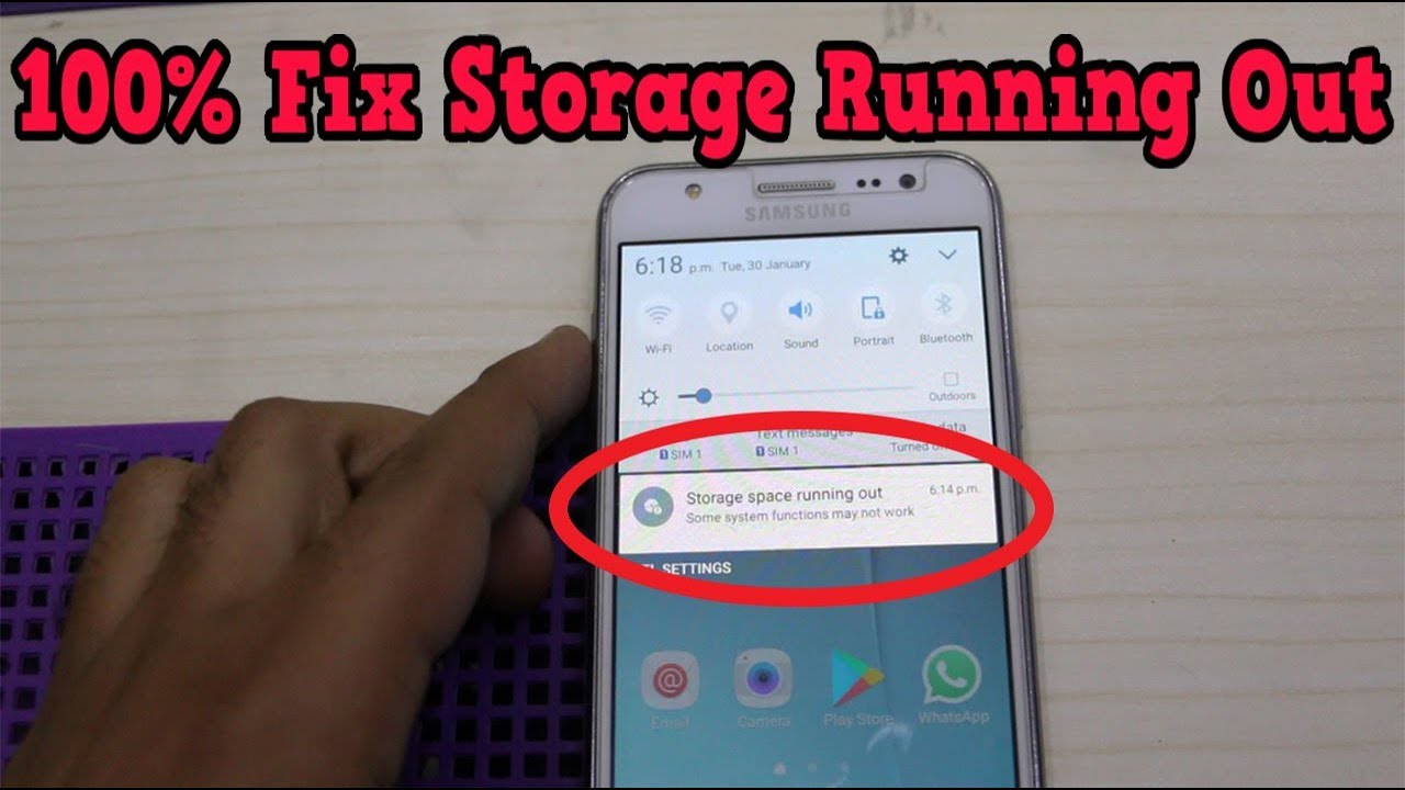 How to Fix Internal Storage Running Out Android Device 2018