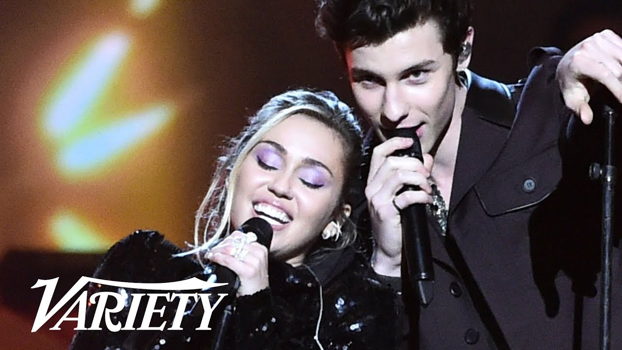Miley Cyrus and Shawn Mendes Perform 'Islands in the Stream'