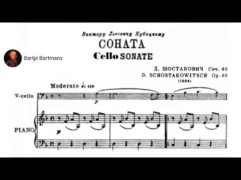 Dmitri Shostakovich - Cello Sonata Op. 40 (1934)