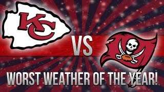 "MADDEN 25-WORST WEATHER OF THE YEAR ""MADDEN NFL 25"" BUCCANEERS Vs. CHIEFS Online Gameplay"