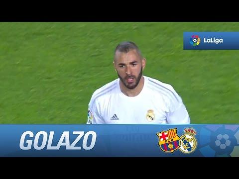 Golazo de media chilena de Benzema (1-1) en el FC Barcelona - Real Madrid