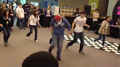 Roseisle youth group leading Line dancing at Youth Quake 2012
