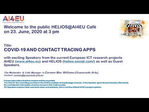 AI4EU Café presents: COVID 19 AND CONTACT TRACING APPS