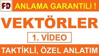 VEKTÖRLER -1  ÖZEL ANLATIM  ( ANLAMA GARANTİLİ )