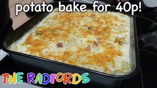 Cooking on a budget - Potato bake for 40p
