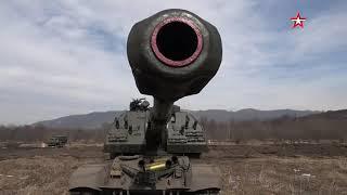 Огонь из «Мста-С» и поражение «противника» военные ЮВО совершили марш из Ингушетии в Северную Осетию