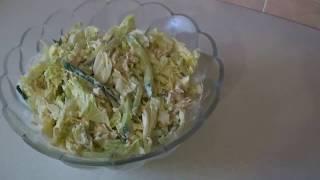 Салат из курицы, огурца и пекинской капусты.