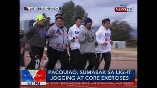 BP: Manny Pacquiao, sumabak sa light jogging at core exercises thumbnail