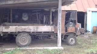 Самодельная техника Азизовых 2(Двигатель УМЗ(москвич), задний мост от УАЗ, раздаточная коробка от ГАЗ-66, все остальное из подручных материа..., 2013-10-18T15:48:26.000Z)
