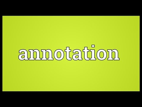 Annotation Meaning