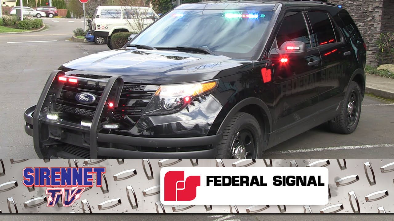 Ford Explorer Parts >> Federal Signal 2015 Ford Interceptor Demo - YouTube