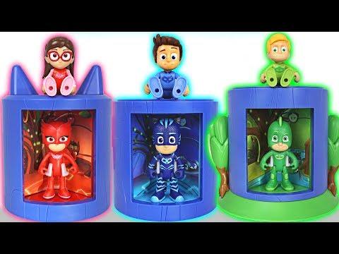 PJ Masks! Become a more perfect superhero at transforming base! - DuDuPopTOY