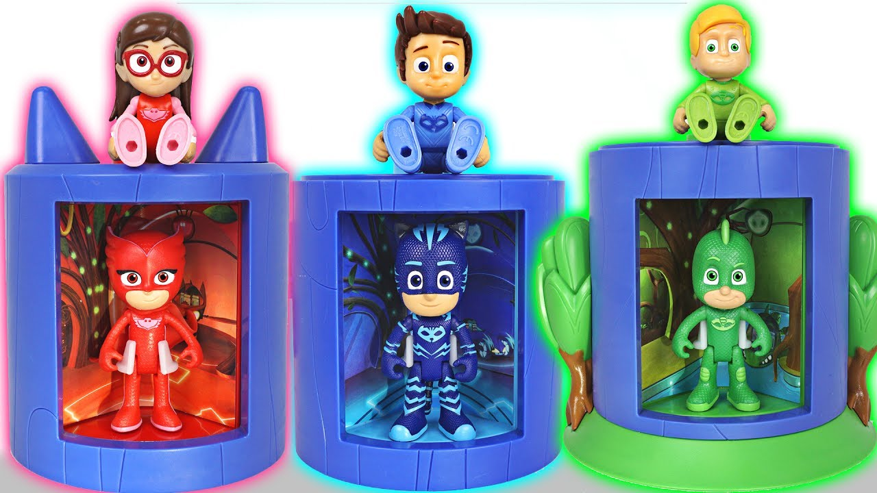 pj masks become a more perfect superhero at transforming base dudupoptoy youtube. Black Bedroom Furniture Sets. Home Design Ideas