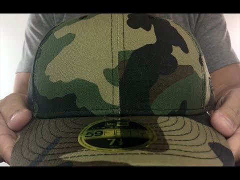 New Era  LOW-CROWN 59FIFTY-BLANK  Army Camo Fitted Hat - YouTube 4e1df9bd5d67