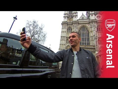 Lukas Podolski Learning London | Taxi