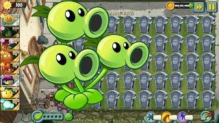 Plants vs Zombies Free ⭐️ Survival Night Army Threepeater shadowverse pvz