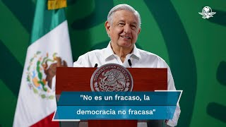 """El Presidente reiteró que """"la democracia es la opción, es la alterativa, es el camino"""""""