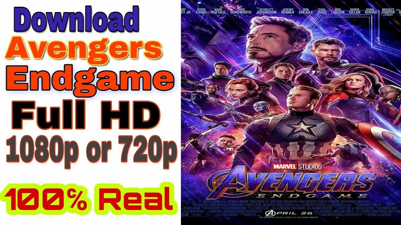 Download Avengers Endgame In Full Hd 1080p Or 720p Hindi 100 Real How To Download Marvel Avengers Youtube