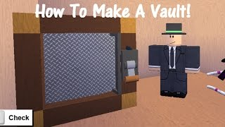 How To Make A Vault! Lumber Tycoon 2