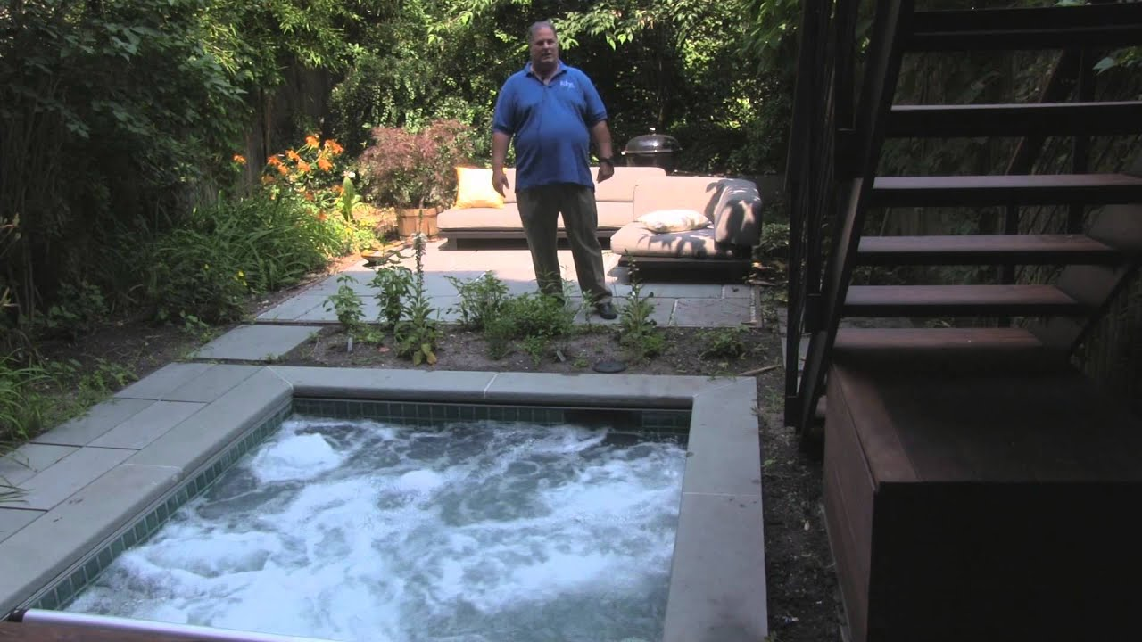 spa in built in brooklyn backyard by mill bergen pools youtube
