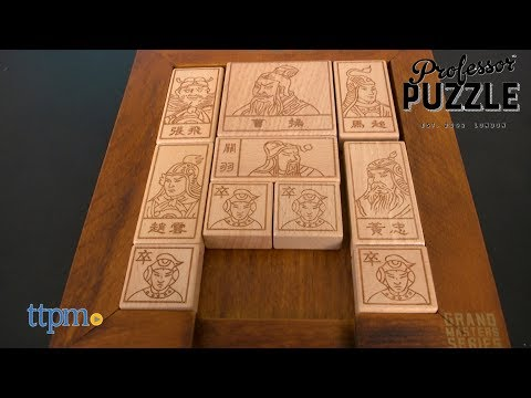Sliding Blocks of Huarong Wooden Puzzle from Professor Puzzle