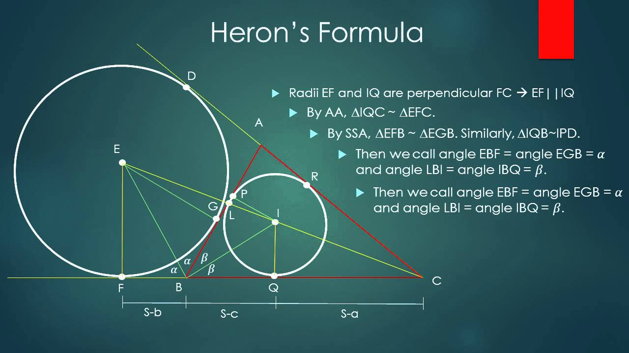 Herons Formula Project - YouTube