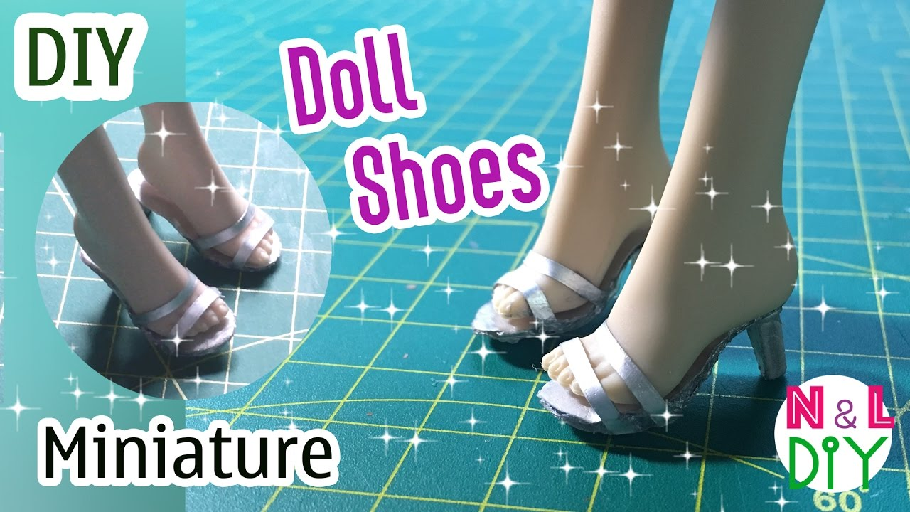 6c7706243f4be DIY Miniature Doll Shoes | How to make Shoes for your Doll | Dollhouse