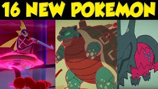 16 NEW POKEMON REVEALED In The Pokemon Direct! New Pokemon Sword and Shield DLC