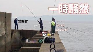 危険堤防端にいた全員が大物釣りあげ一時騒然 thumbnail