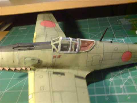 Papercraft paper model Kawasaki Ki-61 Hien