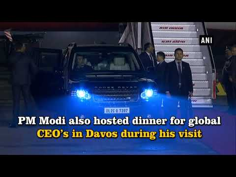 Watch: PM Modi arrives in Delhi post WEF