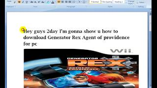 How to download Generator Rex Agent of Providence for pc