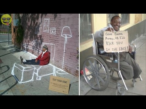 Thumbnail: Funny and Creative Homeless Signs
