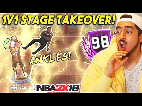 1V1 STAGE TAKEOVER WITH MY PURE SHOT CREATOR! 98 OVERALL GAMEPLAY in NBA2K18!