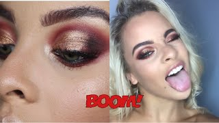 Festive, Christmas Glam make-up tutorial | 0-100 real quick (LAZY GIRLS GUIDE TO LOOKING CUTE)
