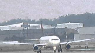 a320 211  n309us  takeoff runway 21r detroit metro dtw with live atc