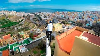 "GoPro: Danny MacAskill - Cascadia(Join Danny MacAskill on an insane journey across the rooftops of Gran Canaria. Mixing vertigo-inducing lines and killer POV-footage, ""Cascadia"" delivers some ..., 2015-12-10T08:00:01.000Z)"